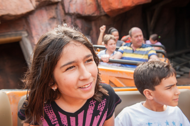 That girl loves roller coasters. She is mine.