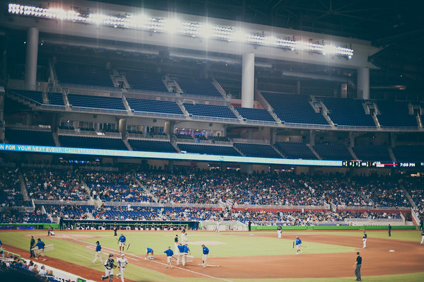 FIU versus the Miami Marlins in the new baseball stadium.